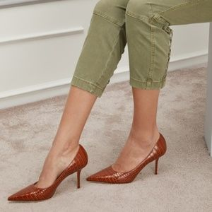 JIMMY CHOO Love 85 Pointy Toe Pump Textured BROWN